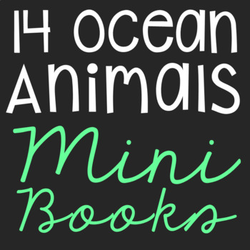 Ocean Animals Mini Book Research Templates, Set of 14, Int