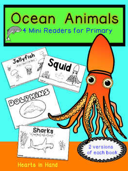 Ocean Animals Mini Readers for Primary