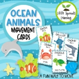 Ocean Animals Movement Cards - Brain Breaks (Transition activity)
