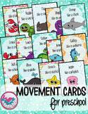 Ocean Animals Movement Cards for Preschool
