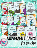 Ocean Animals Movement Cards for Preschool