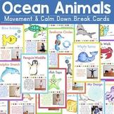 Ocean Animals - Movement & Mindfulness Break Cards (Distan