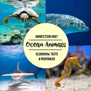Ocean Animals Nonfiction Close Reading & Visual Vocabulary Unit