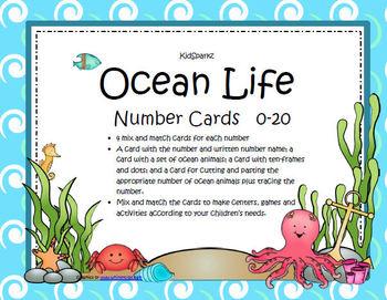 Ocean Animals Numbers