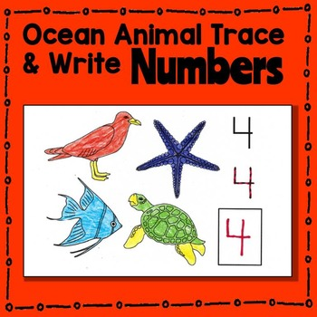 Ocean Animal Trace and Write Numbers Booklet