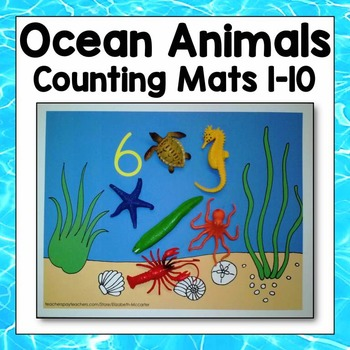 Ocean Animal Counting Mats 1-10 Math Center