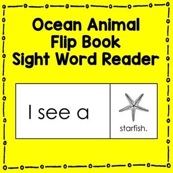 Ocean Animal Sight Word Reader (I see a...) Literacy Center