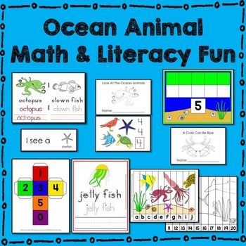 Ocean Animal Math and Literacy Fun