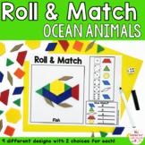 Pattern Blocks Mat Ocean Animals Math Games