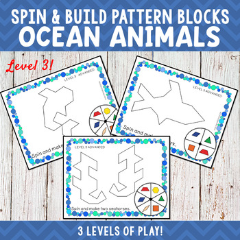 Ocean Animals Pattern Blocks Spin and Build