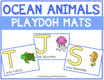 Ocean Animals Playdoh Mats