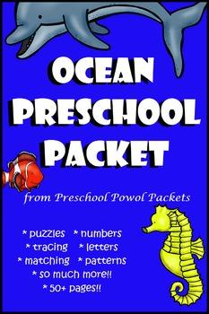 Ocean Animals Preschool Packet