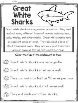 Ocean Animals - Print and Teach