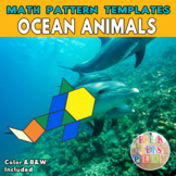 Ocean Animals |  Printable Math Pattern Block Templates