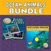 Ocean Animals Printable Puzzles & Math Blocks Pattern Temp