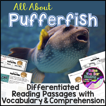 Ocean Animals Reading: Pufferfish Differentiated Passages