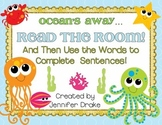 Ocean Animals Read the Room!  Use Words to Complete Sentences With Picture Clues