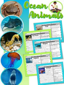 Ocean Animals Reading Comprehension Passages