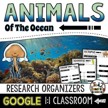 Ocean Animals Report: Animal Research and Informational Writing GOOGLE CLASSROOM