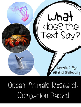 Ocean Animals Research Companion
