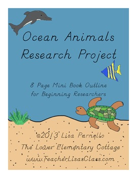 Ocean Animals Research Project Mini Book for Primary Students