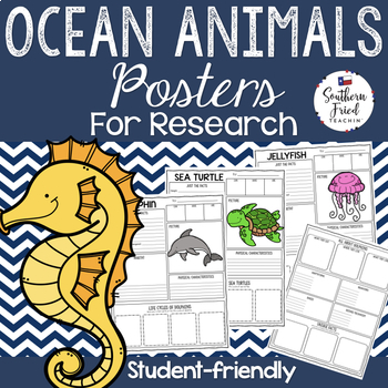 Ocean Animals Research Project Posters