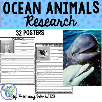 Ocean Animals Research Report Writing Project Common Core