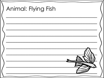 Ocean Animals Research and Writing Journal {Student Created}
