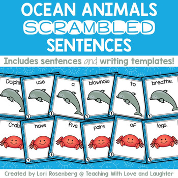 Ocean Animals Scrambled Sentences