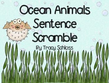 Ocean Animals Sentence Scramble 2