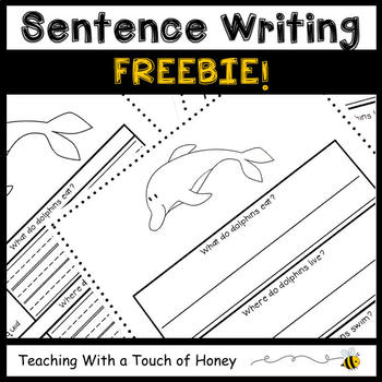 Ocean Animal Activity | Under the Sea Activity | Writing Sentences | FREEBIE