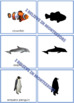 Ocean Animals Shadow Matching Activity