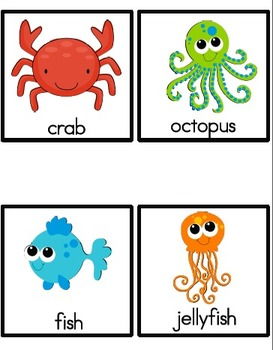 Ocean Animals Shared Reader, Emergent Reader and Picture Cards