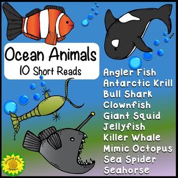 Ocean Animals Short Reads (informational passages)