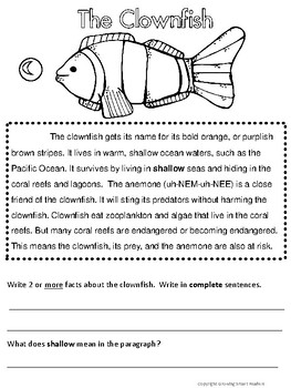 Ocean Animals Short Reads (Free Sampler) Revised!
