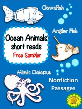 Ocean Animals Short Reads (Free Sampler)