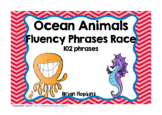 Ocean Animals Sight Word Fluency Phrases Race