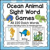 Ocean Animals Sight Word Game