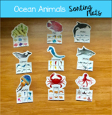 Ocean Animals Sorting Mats (W/Real Photos)