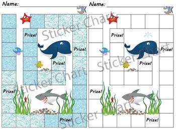 Ocean Animals Sticker/Behavior Chart