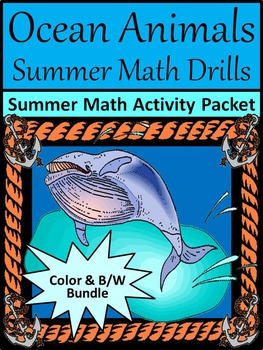 End of Year Activities: Ocean Animals Summer Math Drills