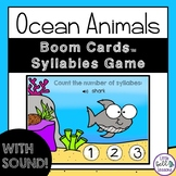 Ocean Animals Syllables Boom Cards™ Digital Task Cards