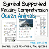 Ocean Animals - Symbol Supported Picture Reading Comprehension for Special Ed