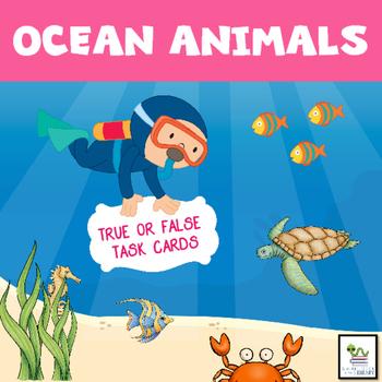 Ocean Animals Task Cards