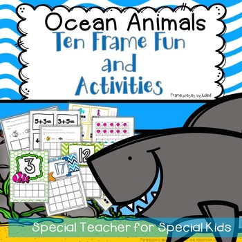 Ocean Animals Ten Frame Fun Activities and Printables