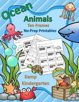 Ocean Animals Ten Frames No Prep Printables Quantities to 20