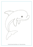 Ocean Animals Trace Worksheets