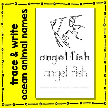 Ocean Animal Trace and Write Booklet Literacy Center