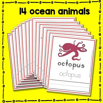 Ocean Animal Trace and Write Mat Literacy Center