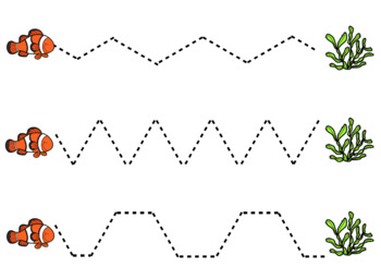 Ocean Animals Tracing Sheets